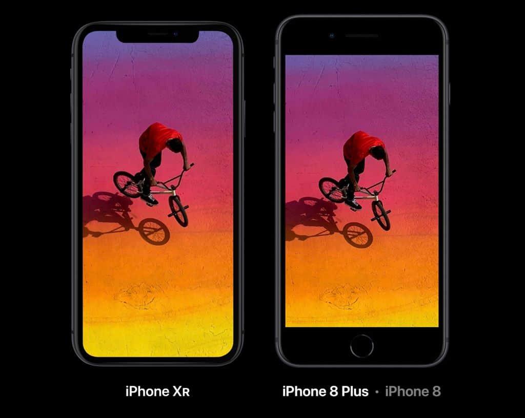 아이폰 XR과 아이폰 8 비교