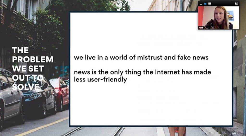 악시오스(Axios)가 풀어야할 문제로 제가한 이슈 News is the only thing the Internet has made more difficult, Axios executive Kate Meissner says, Image - INMA.ORG