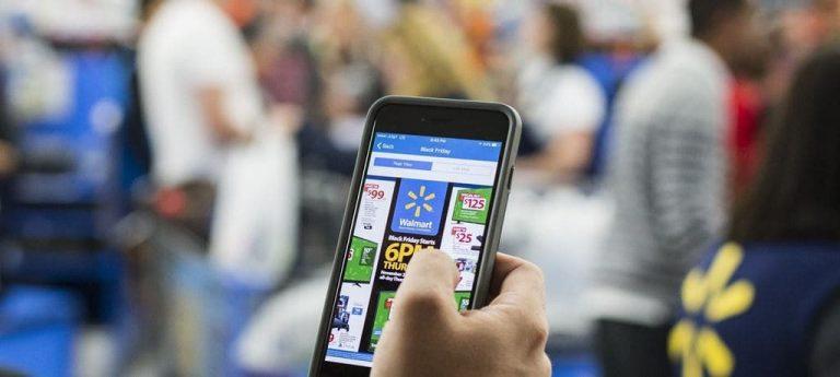 월마트 이커머스 앱 사용 모습, Image - Wall Stret Journal
