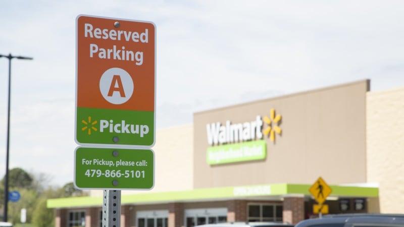 월마트 Pickup 간판, Image - WalMart