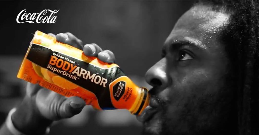 2018년 8월, 코카콜라가 인수한 바디아머(BodyArmor)