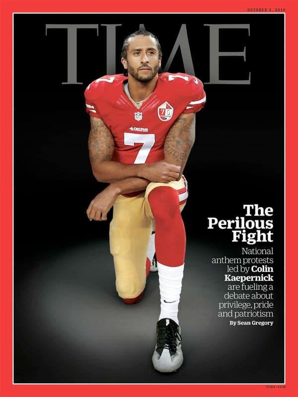 타임지 커버에 등장한 콜린 캐퍼닉(Colin Kaepernick) TIME Magazine
