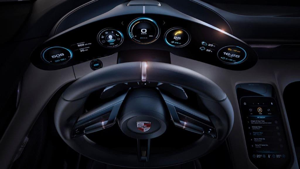 포르쉐 전기자동차 Taycan 운전대를 중심으로한 내부 디자인, image - Porsche