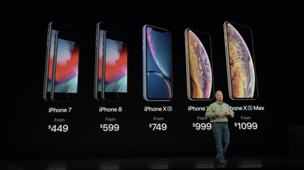 2018년 9월 발표한 아이폰 라인업 및 모델별 가격