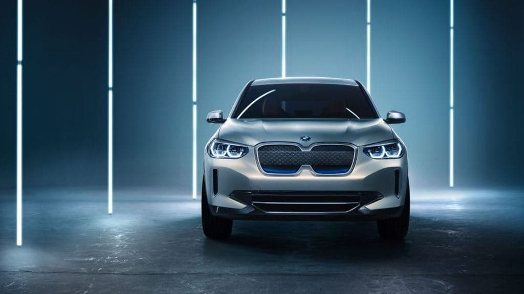BMW 전기자동차 컨셉카 iX3 정 앞면 모습, Image - BMW