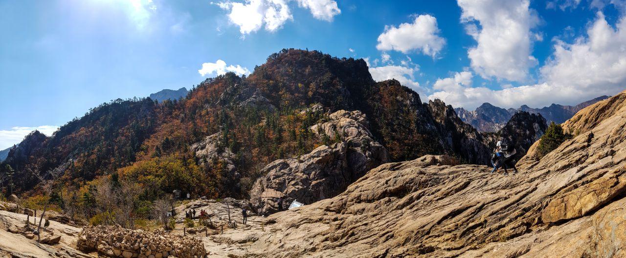 설악산 권금성 봉화대 앞 풍경