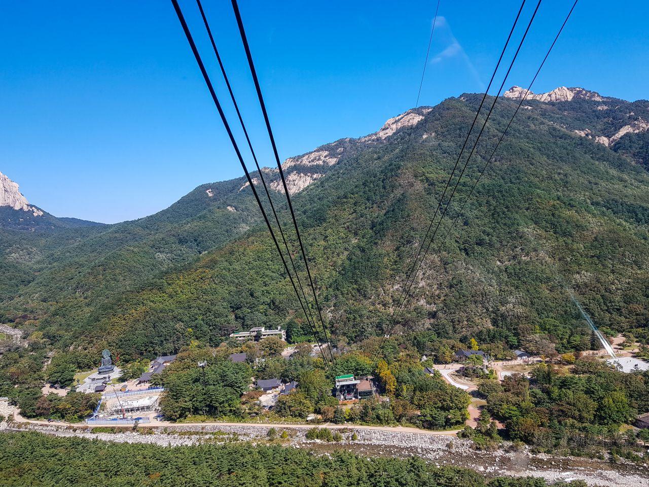 설악산 케이블카에서 바라본 설악동 소공원 풍경-110130