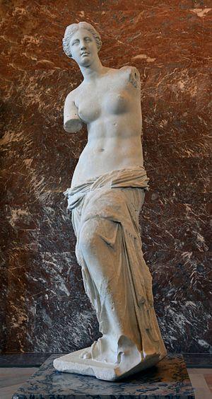 그리스 여행 밀로의 비너스, Front views of the Venus de Milo, Image - Wikipedia