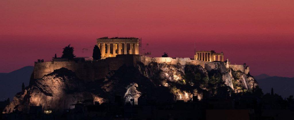 그리스 여행, 아테네 파르테논신전(parthenon)이 보이는 야경, Image - aussieactive