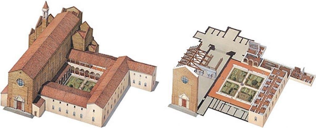 산타 마리아 델 카르미네(Santa Maria del Carmine) 성당 조감도