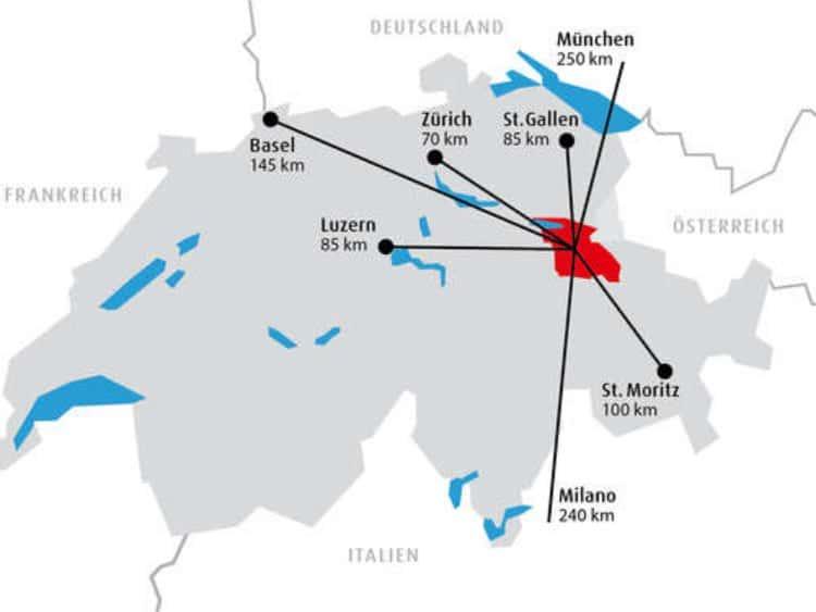 스위스 하이디 마을 마이엔펠트 지도, Image - heidiland.com