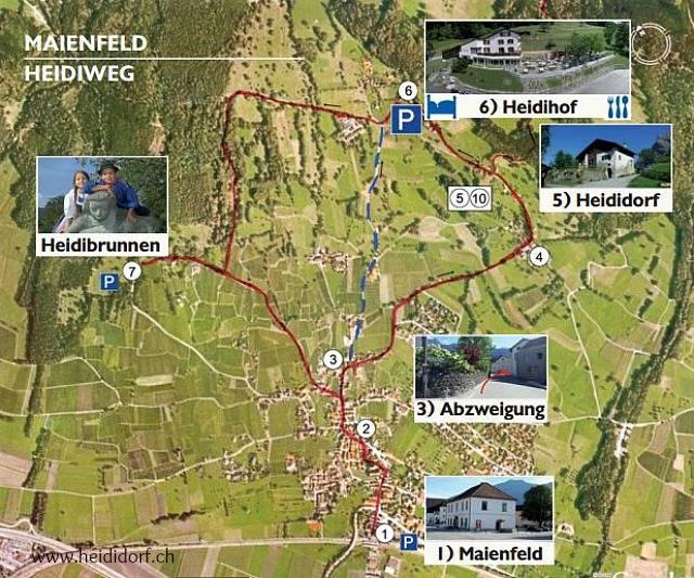 스위스 하이디 마을 마이엔펠트 지도