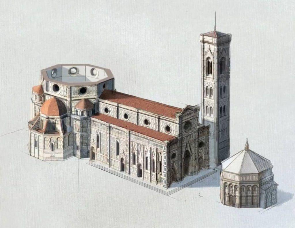 아르놀프 디 캄비오가 설계한 산타 마리아 델 피오레 성당(Santa Maria del Fiore)