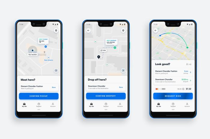 웨이모 원 앱 화면 waymo one App screenshots