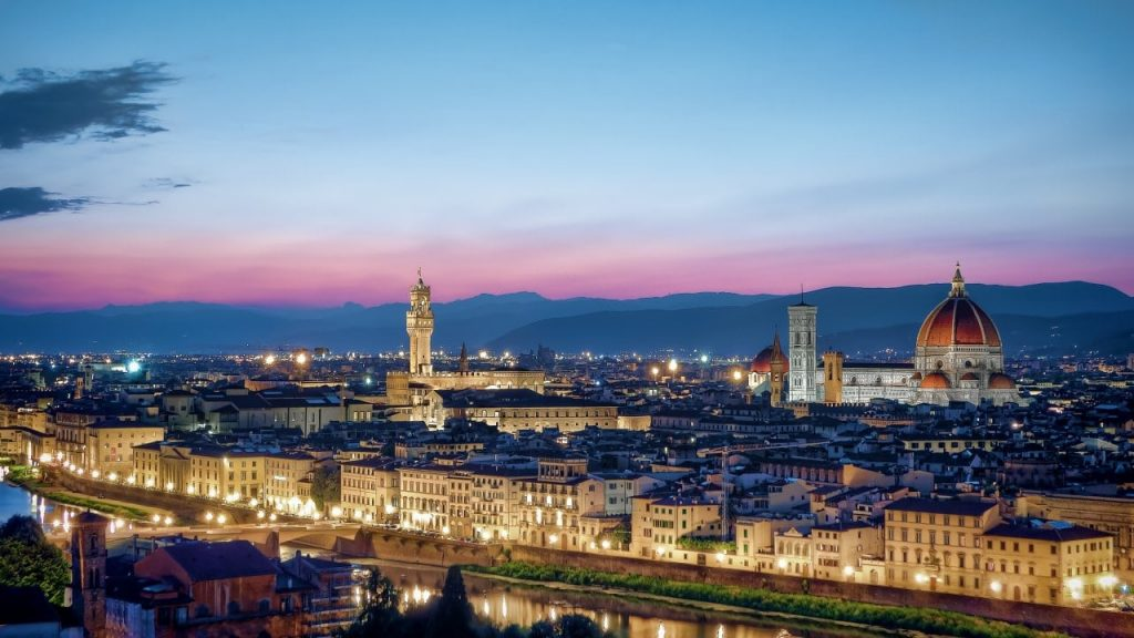이탈리아 여행, 피렌체 시내 야경 파노라아, Image - MustangJoe