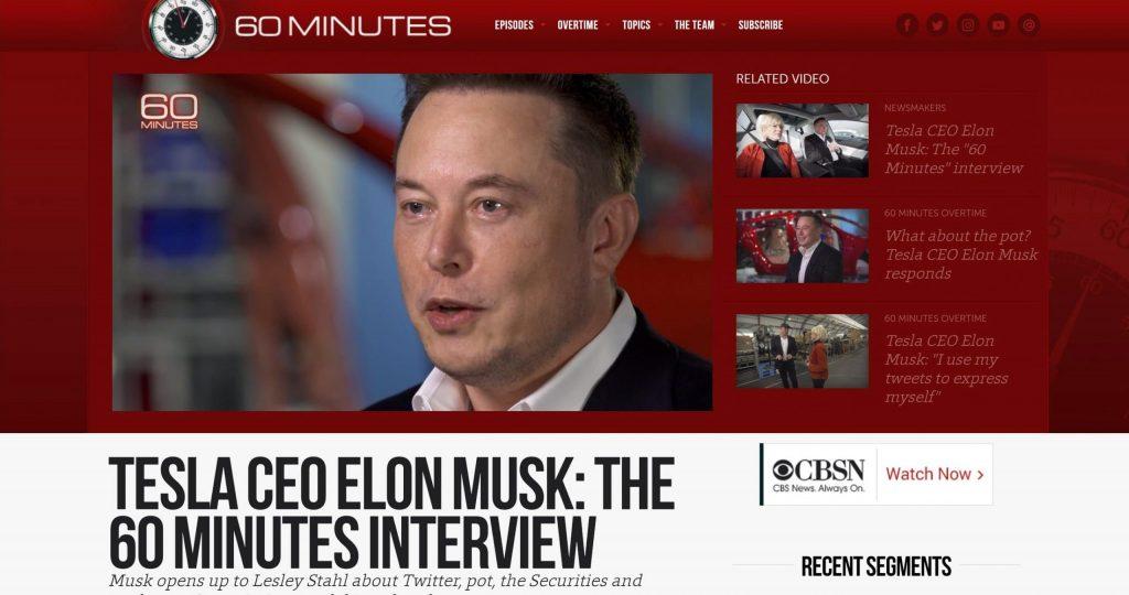 CBS 60 Minutes Interview wiith Ilon Musk 테슬라 CEO 일론 머스크와의 인터뷰 페이지2