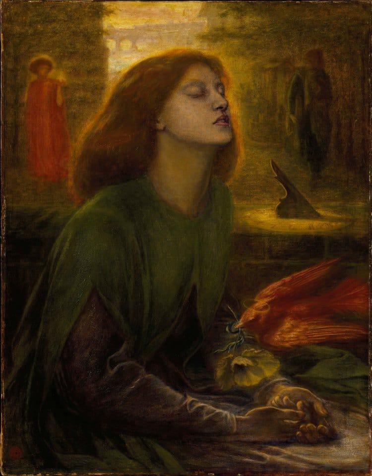 단테(Dante Alighieri)의 사랑, 베아트리체 초상, Beatrice Portinari, Image - Dante Gabriel Rossetti