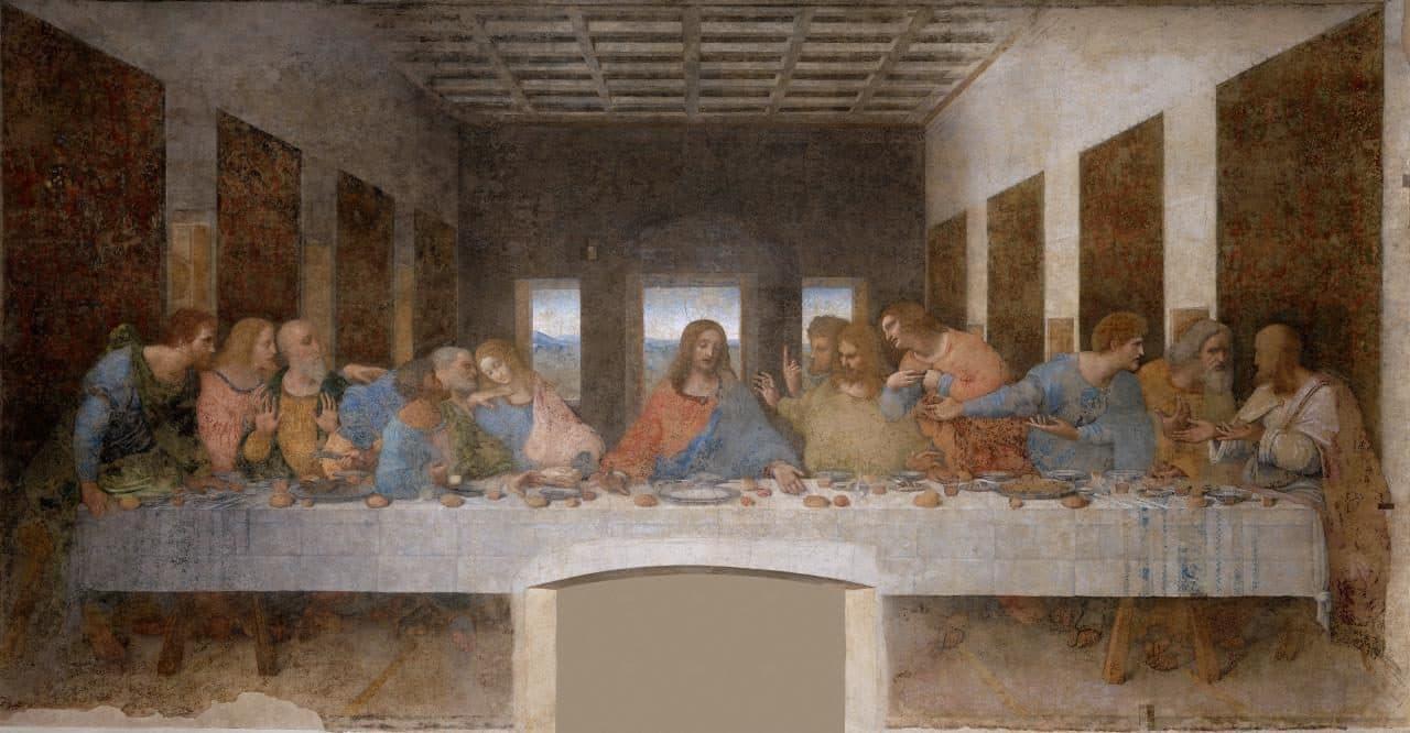 레오나르도 다빈치의  '최후의 만찬', Leonardo da Vinci (1452-1519) - The Last Supper (1495-1498)