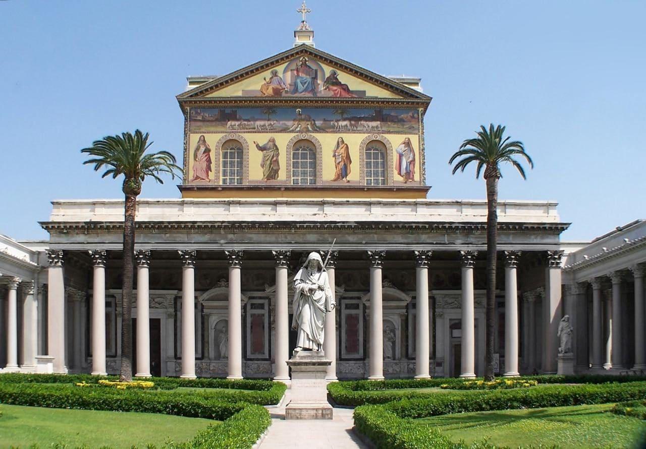로마 산 파올로 푸오리 레 무라 대성당(Basilica di San Paolo fuori le mura, Basilica of Saint Paul Outside the Walls), Image - Berthold Werner