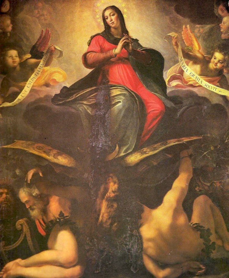 루도비코 카르디 일 치골리(Ludovico Cardi Il Cigoli, 1559~1613) 의 무염시태(The Immaculate Conception(원죄없는 잉태) 1589년 작)
