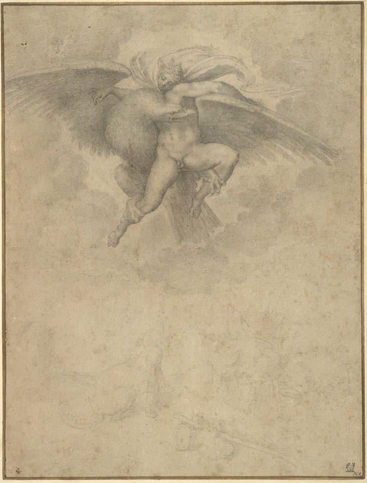 미켈란첼로(Michelangelo) 스케치, 가니메데스의 납치(The Abduction of Ganymede)