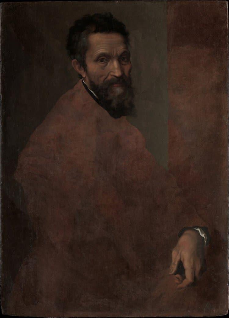 미켈란첼로(Michelangelo) 초상화, 미켈란젤로의 제자 다니엘레 다 볼테라(Daniele da Volterra, 1509–1566)가 그렸다, Image - Daniele da Volterra