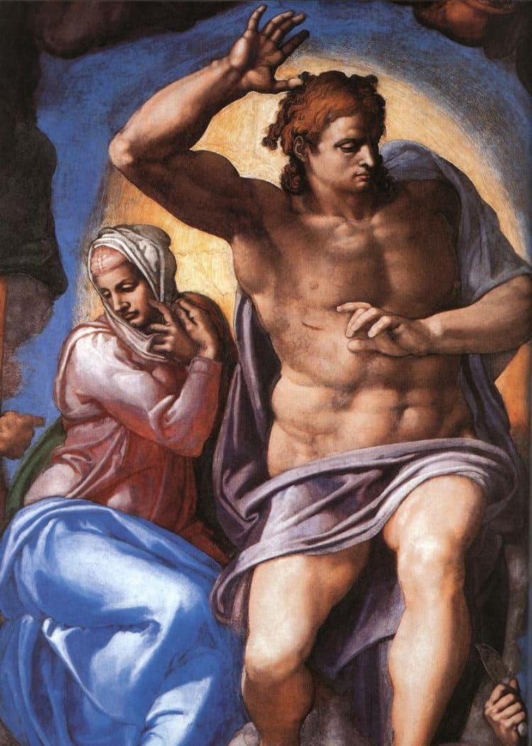 미켈란첼로(Michelangelo), 최후의 심판(The Last Judgment), Mary and Christ