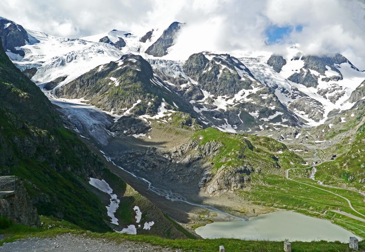 스위스 자동차 여행, 수스텐 패스(Susten PASS)에서 바라본 스타인 빙하(Stein Glacier)와 스타인 호수(Steinsee), switzerland, Image - hpgruesen