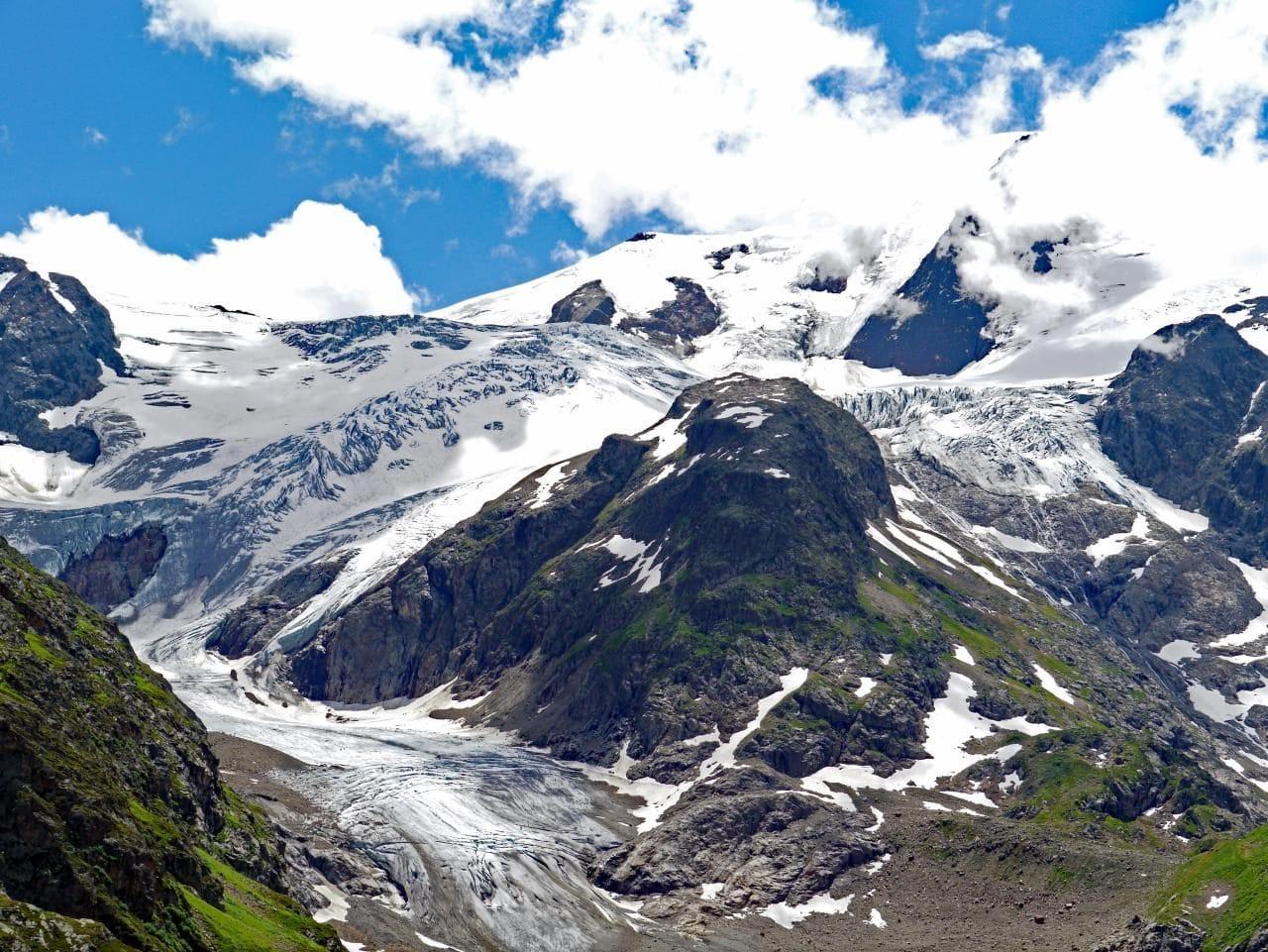 스위스 자동차 여행, 수스텐 패스(Susten PASS)에서 바라본 스타인 빙하(Stein Glacier), switzerland, Image - hpgruesen