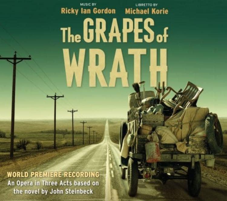 영화 분노의 포도 포스터, 고물 트럭에 낡아빠지 가재도구를 싣고 캘리포니아로 떠난다