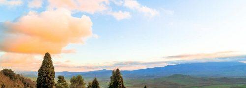 [이탈리아 자동차 여행] 겨울 토스카니 발도르시아 평원의 풍경