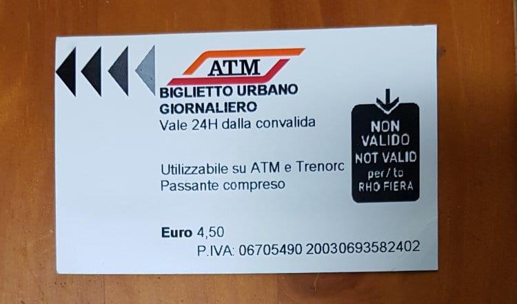 이탈리아 밀라노 대중교통 메트로외 1일권