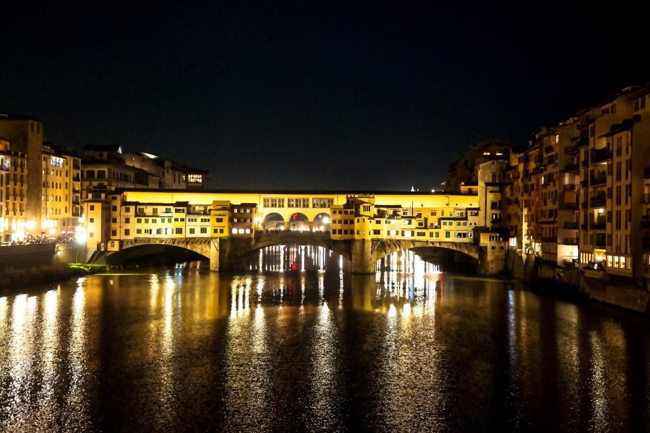 이탈리아 여행, 피렌체, 베키오다리(Ponte Vecchio) 야경, Image - Choi dongsoon