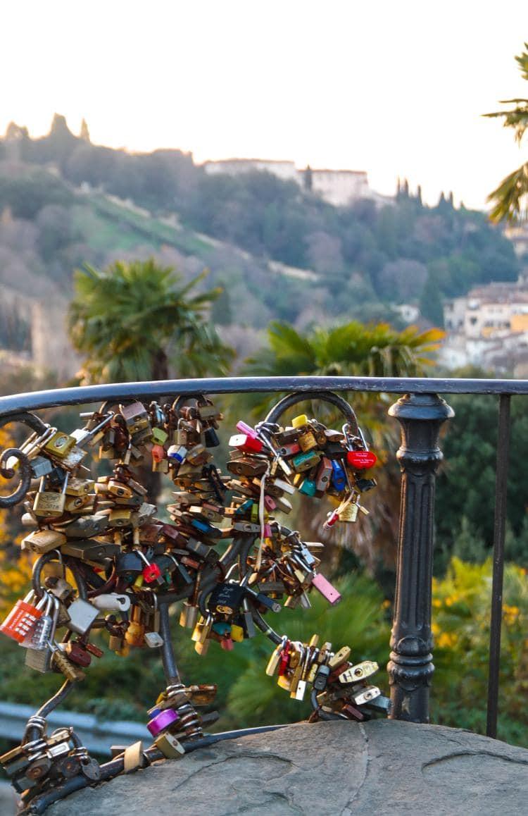 이탈리아 여행, 피렌체 야경이 아름다운 미켈란첼로 광장, 자물쇠, Image - Choi dongsoon
