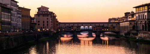[이탈리아 자동차 여행] 아르노강 석양이 아름다웠던 피렌체 베키오다리(Ponte Vecchio) 풍경