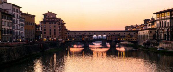 [이탈리아 자동차 여행] 아르노강 석양이 아름다웠던 피렌체 베키오다리(Ponte Vecchio) 풍경 2