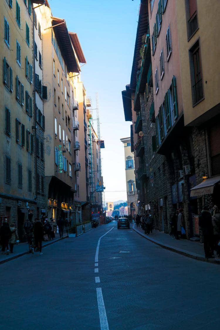 이탈리아 여행, 피렌체, 피티궁전(Pitti Palace)에서 베키오다리(Ponte Vecchio)에 이르는  골목 길, Image - Choi dongsoon