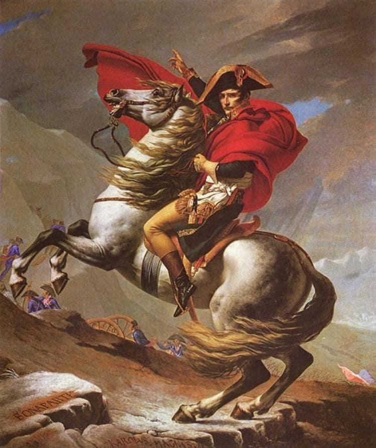 제2차 이탈리아 침공 당시 알프스를 넘는 나폴레옹, 나폴레옹에 대한 가장 유명한 사진중의 하나