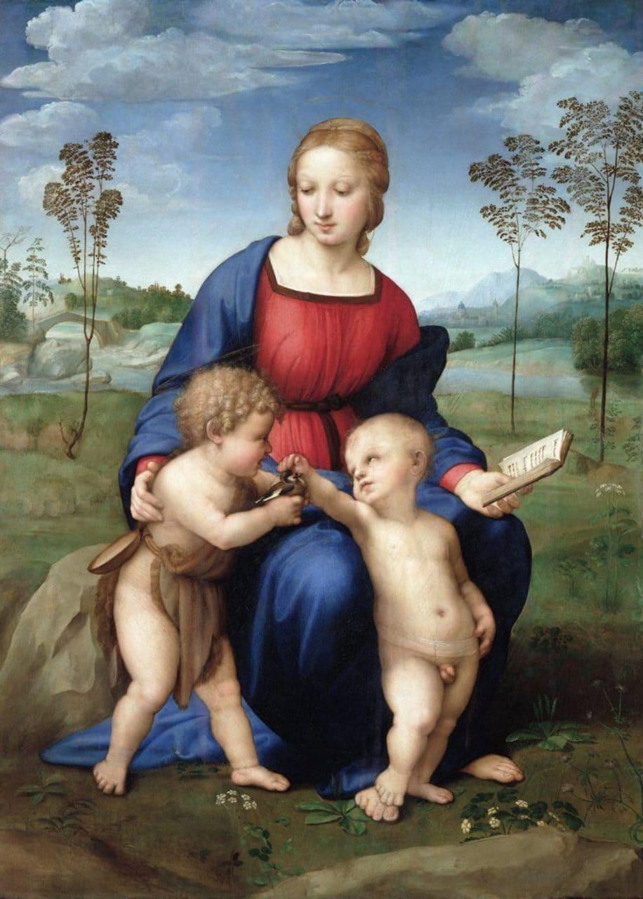 검은 방울새의 성모(Madonna del cardellino), 라파엘로(Raphael), 1506