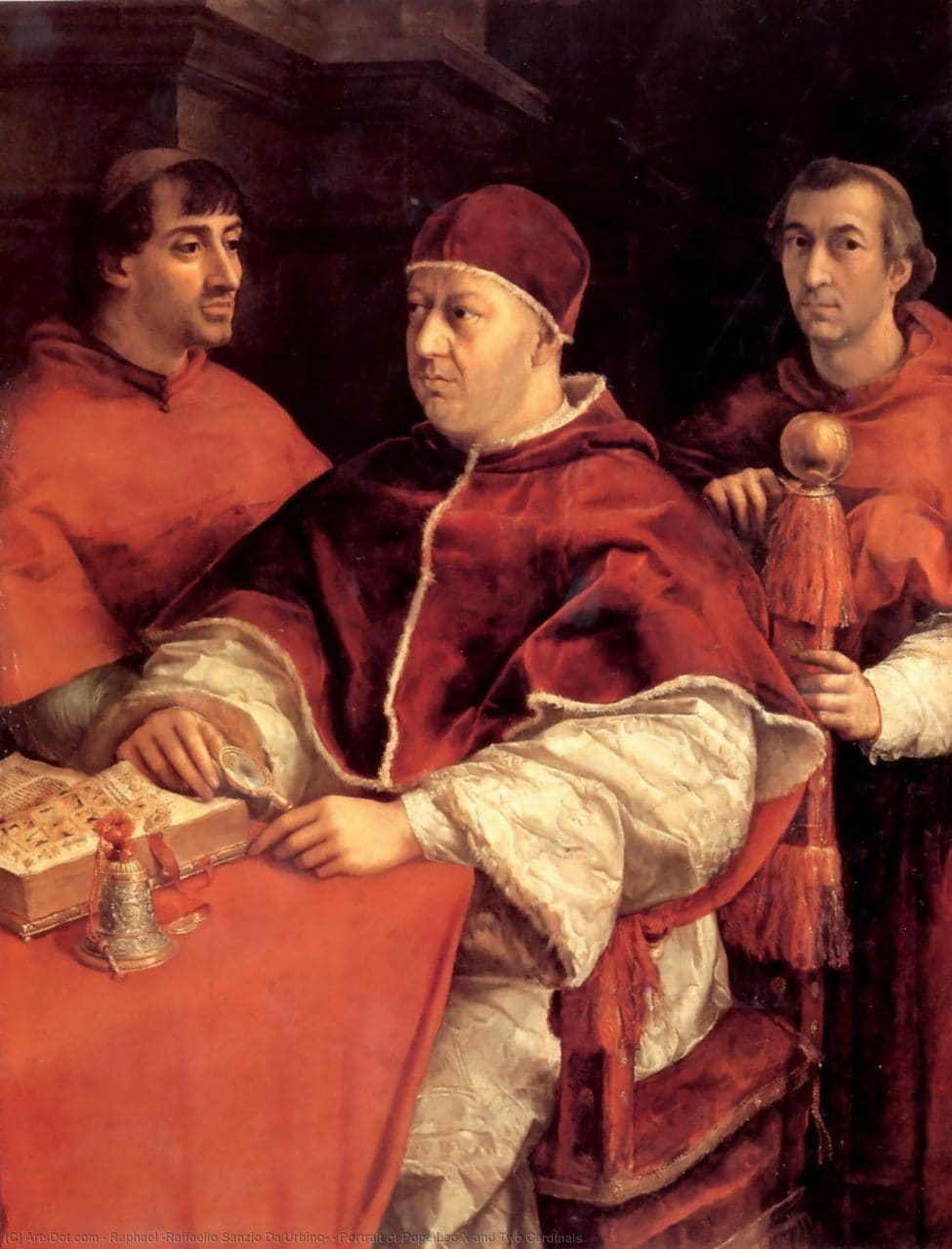 라파엘로, 레오 10세의 초상(Portrait of Pope Leo X) -라파엘로, 1518