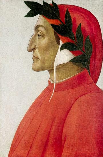 산드로 보티첼리(Sandro Botticelli)가 그린 단테 초상(Portrait of Dante Alighieri)