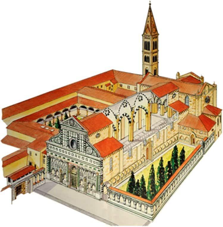 산타 마리아 노벨라성당(이탈리아어 Basilica di Santa Maria Novella, 영어 Church of Santa Maria Novella) 조감