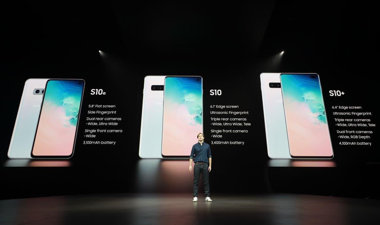 삼성전자 갤럭시 S10 언팩중 모델 소개 장면, Image - Samsung