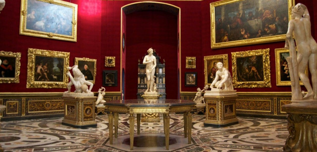 우피치 미술관의 트리뷰나(Tribuna of the Uffizi) 전경, Image by Uffizi Gallery
