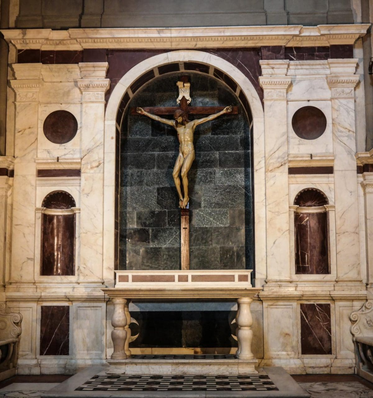 이탈리아 여행, 피렌체, 산타 마리아 노벨라성당, 곤디 예배당 (Gondi Chapel)의 브르넬리스키 십자가, © All Rights Reserved - Choi dongsoon