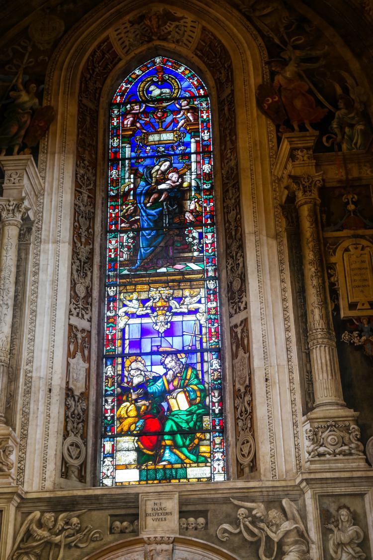 이탈리아 여행, 피렌체, 산타 마리아 노벨라성당, 필리포 스트로치 예배당 (Filippo Strozzi Chapel)의 스테인드글라스, © All Rights Reserved - Choi dongsoon