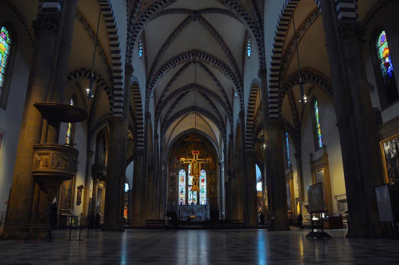 이탈리아 여행, 피렌체, 산타 마리아 노벨라성당(Church of Santa Maria Novella) 내부 전경, BY-ND faungg's photos
