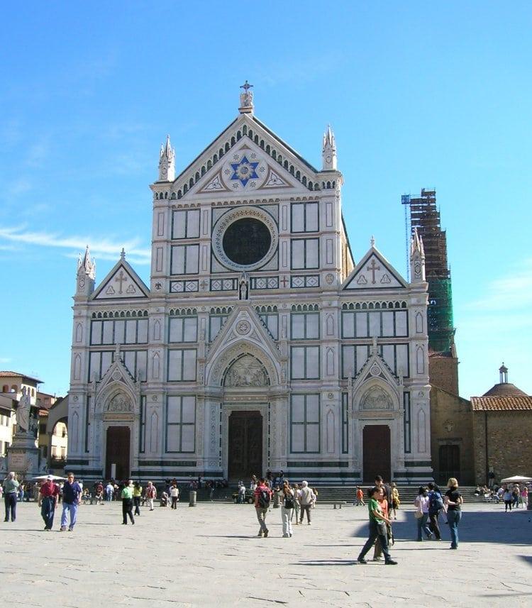 이탈리아 여행, 피렌체, 산타 크로체 성당(Basilica of Santa Croce in Florence) 정면 이미지, CC BY-ND Violator1
