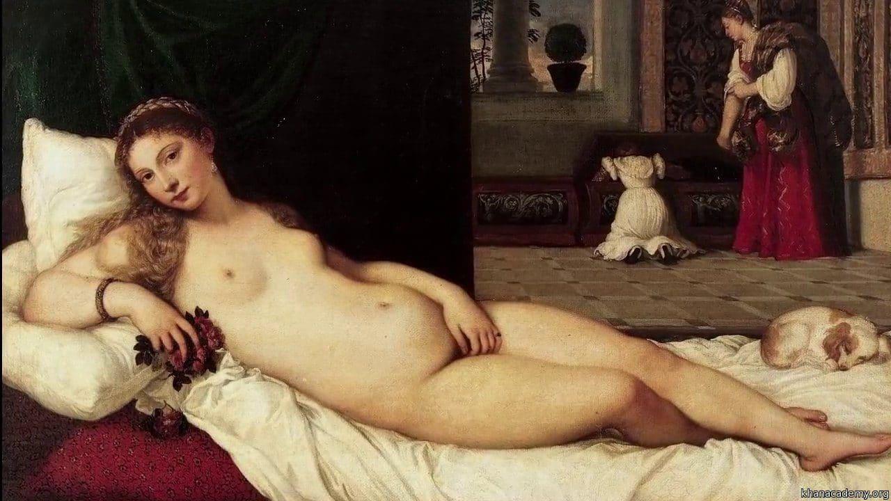 티치아노(Tiziano Vecellio)가 그린 우르비노의 비너스(Venus of Urbino) , 1538
