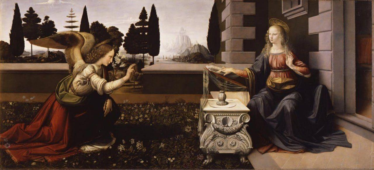 레오나르도 다 빈치의 수태고지(Annunciation, Leonardo da Vinci,1472)